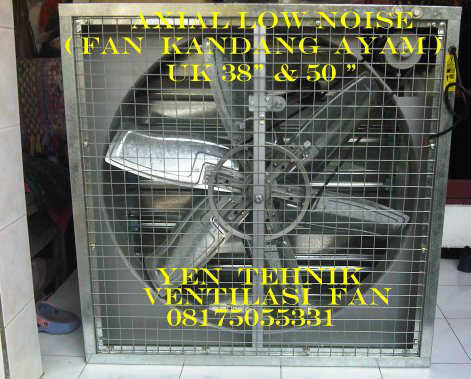 Axial fan kandang ayam low noise